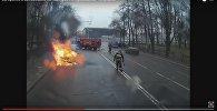 Загорание в автомобиле на перекрестке Куйбышева - Я.Купалы