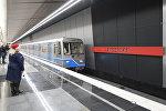 Первый поезд прибывает на станцию Минская