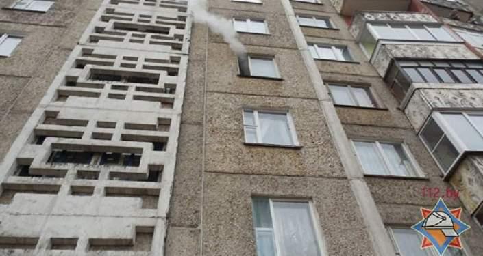 Возгорание в квартире в Полоцке