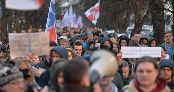 Марш нетунеядцев в Минске 15 марта