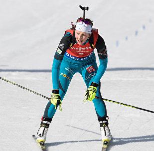 Французская биатлонистка Жюстин Бреза