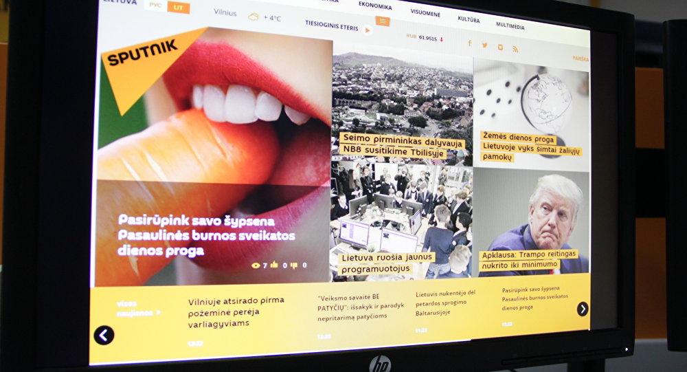Страница сайта Sputnik Литва