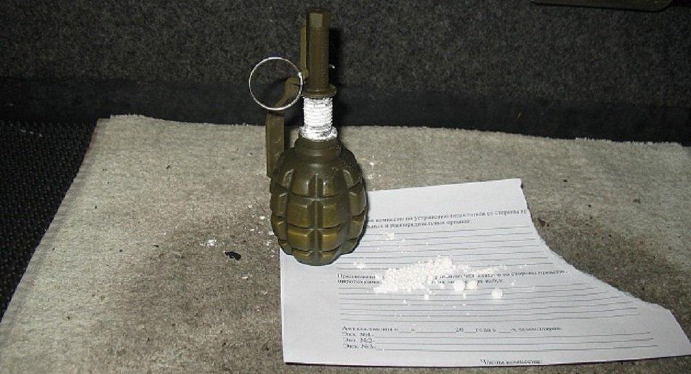Муляж гранаты с порошком, обнаруженный в автобусе в ПП Брест