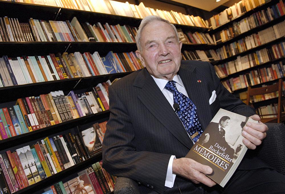 Дэвид Рокфеллер (David Rockefeller) написал автобиографическую книгу Банкир в ХХ веке. Мемуары (David Rockefeller: Memoirs)