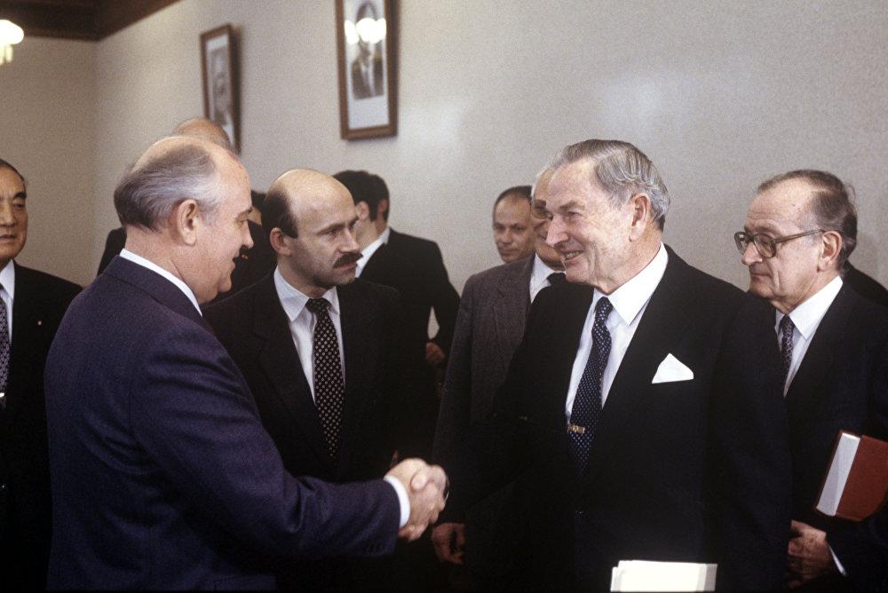 Михаил Горбачев и Дэвид Рокфеллер