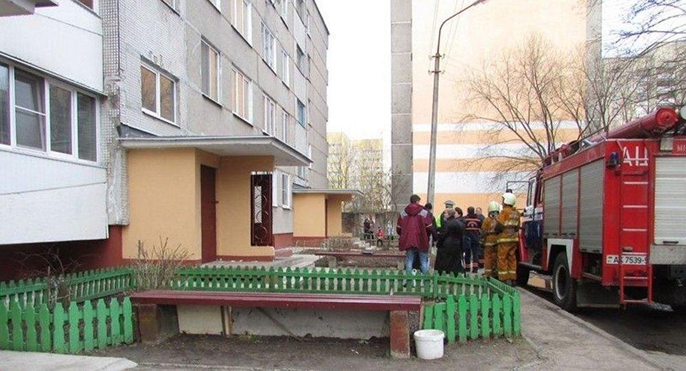 Эвакуация жильцов пятиэтажки в Борисове