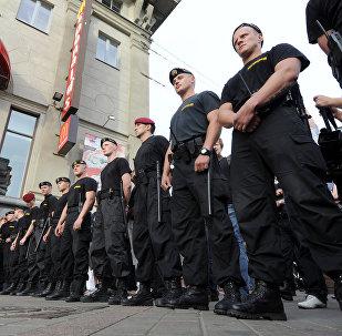 Белорусский ОМОН работает на акции оппозиции, архивное фото