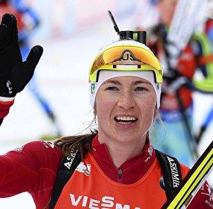 Белорусская биатлонистка Дарья Домрачева