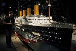 Масштабная модель Титаника на выставке в Испании