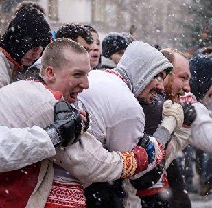 Участники кулачных боев, архивное фото