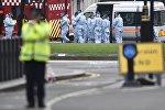 Полиция на месте происшествия в центре Лондона