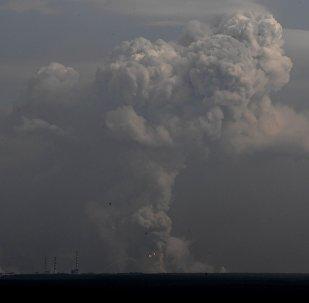 Пожар на военных складах в Харьковской области