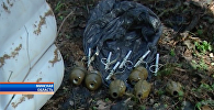 Схрон в районе деревни Теребейное в Столбцовском районе