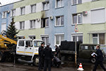 Гомельская районная инспекция Министерства по налогам и сборам, куда утром в пятницу была брошена бутылка с зажигательной смесью