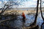 Спасение рыбака на Лукомльском озере