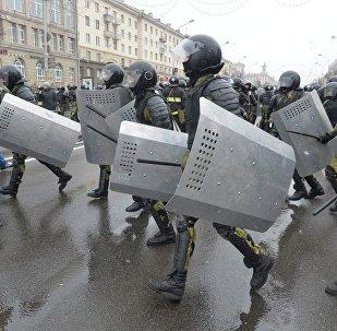Акция в центре Минска