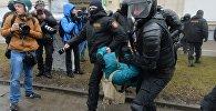 Задержание участников несанкционированной акции оппозиции День Воли в Минске