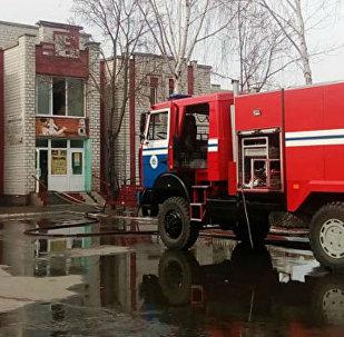 Пожар в банно-оздоровительном комплексе в Ветке Гомельской области