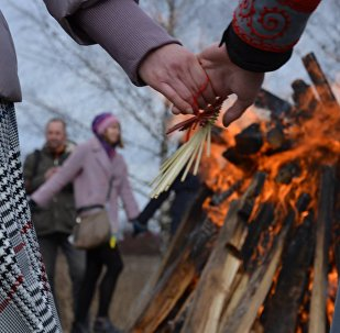 Вогнішча распаленае для правядзення абраду
