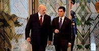 Президент Беларуси Александр Лукашенко на встрече с президентом Туркменистана Гурбангулы Бердымухамедовым