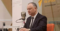 Президент Молдовы И. Додон дал интервью гендиректору МИА Россия сегодня Д. Киселеву