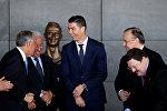 Футболист Криштиану Роналду на церемонии присвоения его имени аэропорту Мадейры