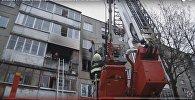 Пожар в квартире на Славинского
