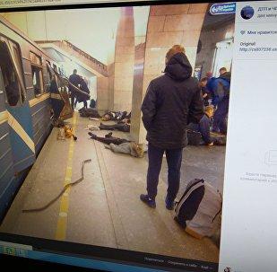 Пасля выбуху ў метро Санкт-Пецярбурга