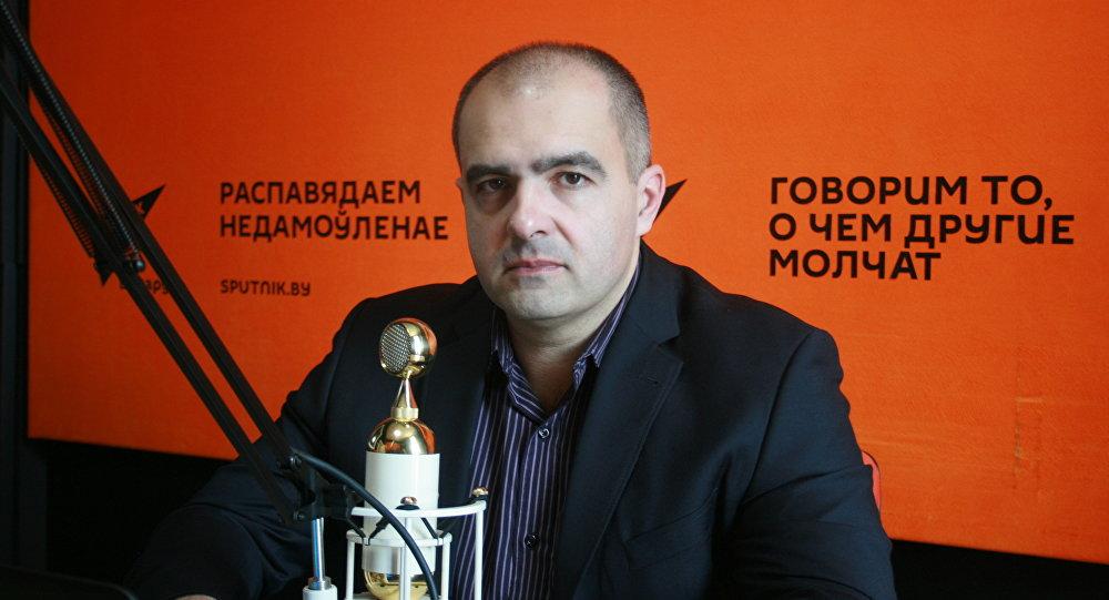 Олег Гайдукевич в студии радио Sputnik Беларусь