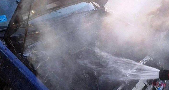 ВИвьевском районе шофёр получил ожоги, пытаясь тушить грузовой автомобиль