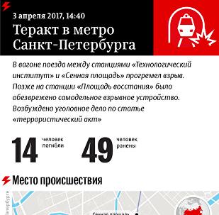 Инфографика Sputnik: Взрыв в метро Санкт-Петербурга