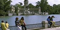 Парк у цэнтры Мадрыда, архіўнае фота