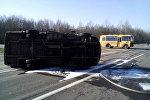 Авария со школьным автобусом под Бешенковичами