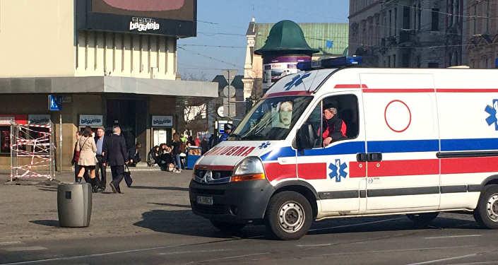 Машина скорой помощи в Польше архивное
