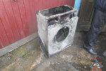 Сгоревшая стиральная машина