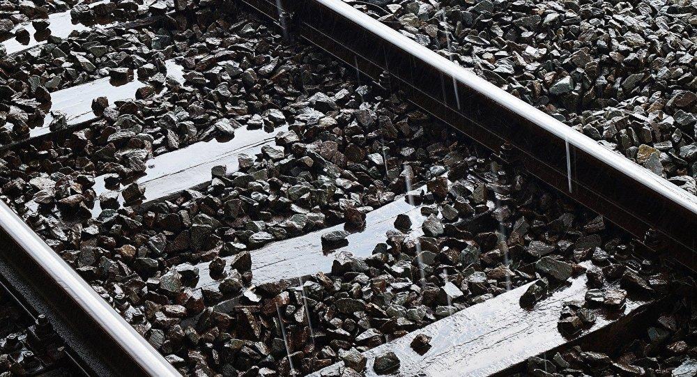 Рельсы железной дороги, архивное фото