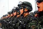 Китайские полицейские принимают присягу
