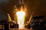 Пуск ракеты-носителя Союз-ФГ с пилотируемым кораблем Союз МС-02 с космодрома Байконур