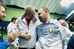 Николай Мирный и Владимир Волчков на матче Кубка Дэвиса