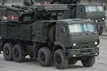 Самоходный ЗРПК наземного базирования Панцирь-С на полигоне