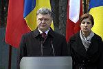 СПУТНИК_Порошенко обвинил Сталина наряду с Гитлером в развязывании Второй мировой