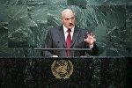 Александр Лукашенко во время выступления на Генассамблее ООН