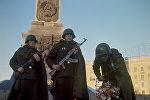 Вечный огонь славы на площади Победы