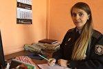 Инспектор отдела по агитации и пропаганде ГАИ УВД Гомельской области Дарья Смоляк