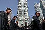 В центре Пхеньяна на улице Рёмнё в короткий срок было возведено порядка тридцати высотных многоквартирных жилых домов