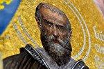 Мозаичные работы по эскизам художника Виктора Думитрашко – Преподобный Иосиф Волоцкий