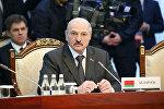 Президент Беларуси Александр Лукашенко во время заседания Высшего Евразийского экономического совета в расширенном формате, 14 апреля 2017 года
