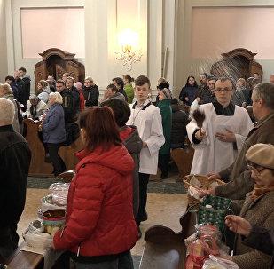 Католики освятили пищу