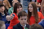 Девушки-волонтеры готовятся к Евроиграм