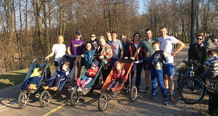 Участники инклюзивного спортивного клуба Крылья Ангелов